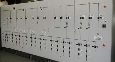Traction sub-station control panel